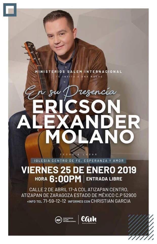 eventos y conciertos cristianos 2019 ericson alexander molano