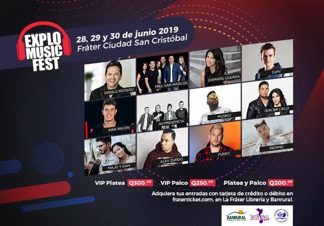 Eventos y conciertos cristianos explo music fest en guatemala 2019