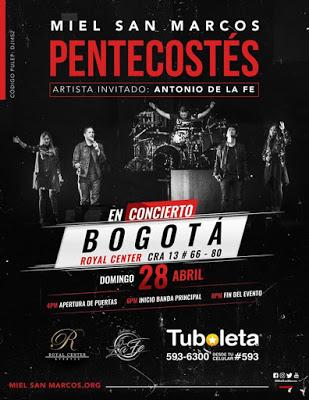 eventos y conciertos cristianos 2019 en vivo miel san marcos bogota colombia