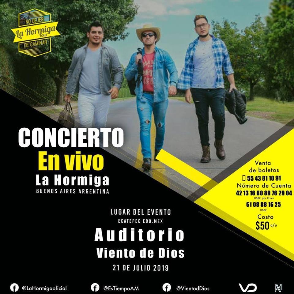 eventos y conciertos cristianos en vivo 2019 en cdmx la hormiga desde argentina