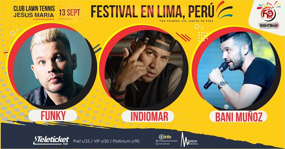 eventos y conciertos cristianos 2019 FESTIVAL IDENTIDAD LIMA PERU FUNKY indiomar bani munoz