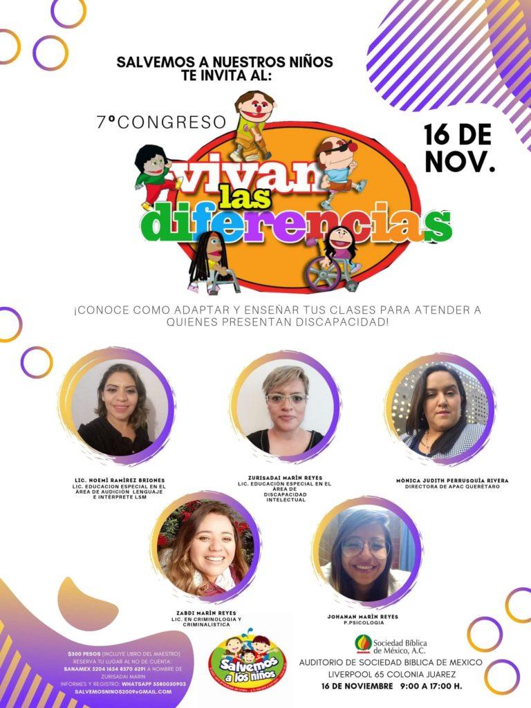eventos y conciertos cristianos 2019 septimo 7º congreso vivan las diferencias sociedad biblica de mexico