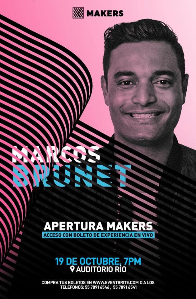eventos y conciertos cristianos makers 2019 marcos brunet CDMX