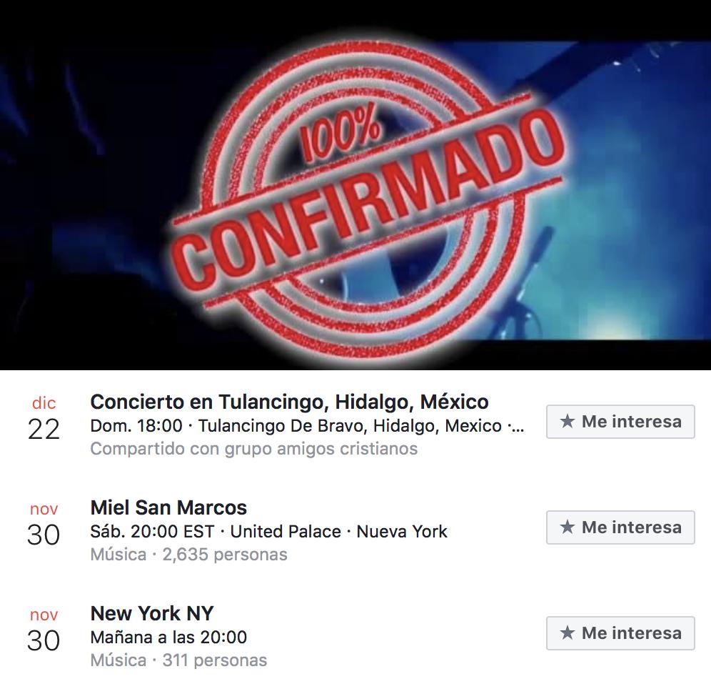 eventos y conciertos cristianos 2019 miel san marcos en tulancingo hidalgo mexico-fechas